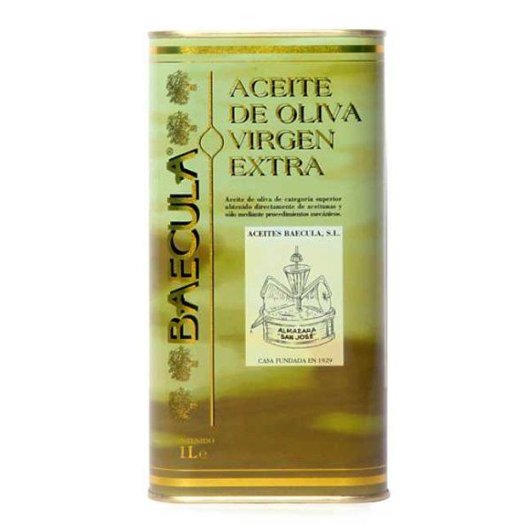 Kaldpresset, extra virgen olivenolje fra Bailén i Sør-Spania, 1 liter