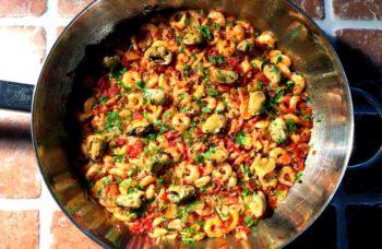 Arroz con mariscos – Enkel spansk risotto med skalldyr