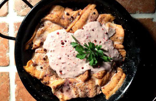 Saumon au poivre rose – Fransk laks med rosépepper