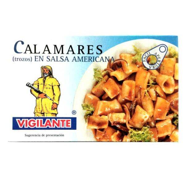 Kalmarer (blekksprut) i tomatbasert salsa - eller «Calamares en salsa americana»