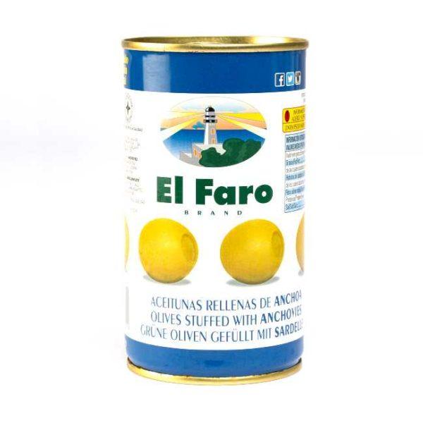 Spanske oliven fylt med ansjos, 350 g