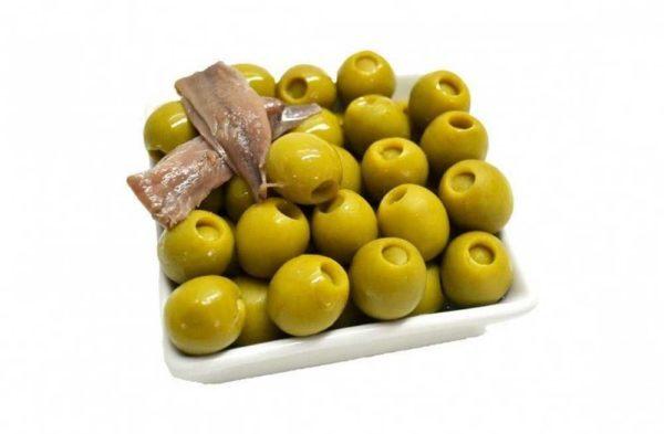 Oliven fylt med ansjos, serveringsforslag