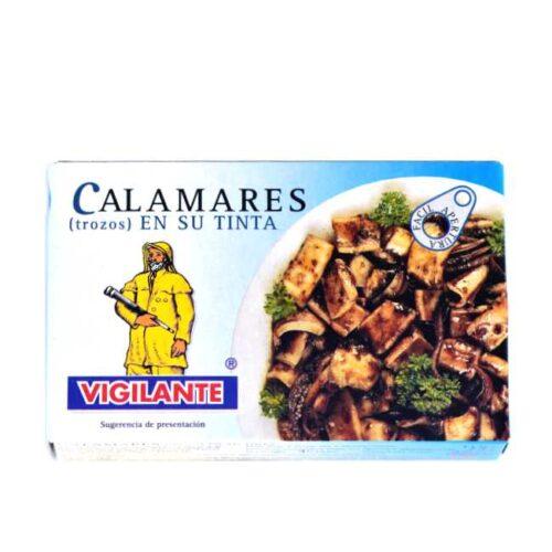Kalmarer (blekksprut) i eget blekk, eller «Calamares en su tinta».
