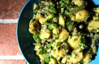 Grüner Kartoffelsalat – Tysk potetsalat med urter (uten majones)