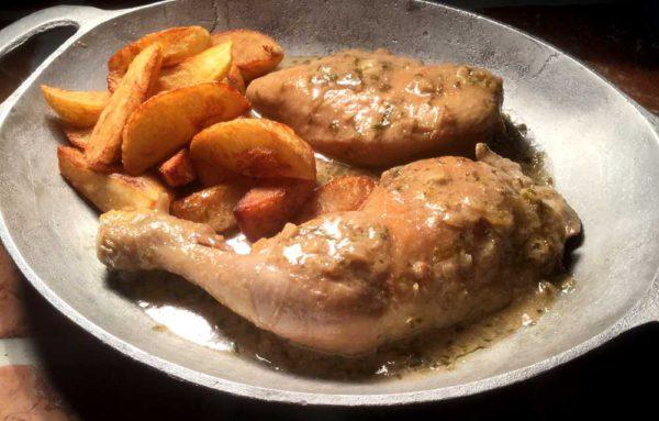 Kylling i mjørdurtsaus