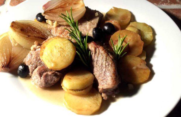 Epaule de porc au romarin – Svinebog med rosmarin