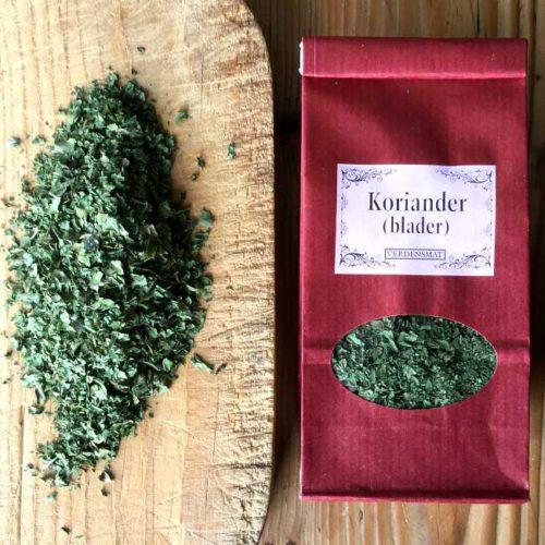 Korianderblader: tørket koriander