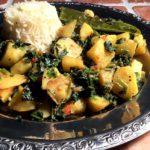 Saag aloo – Indiske spinatpoteter med dyvelsdrek
