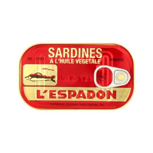 L'Espadon, Sardiner i olje, 125g