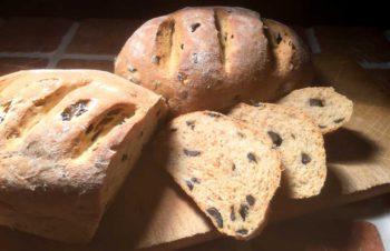 Pane con olive ed erbe – Olivenbrød med urter