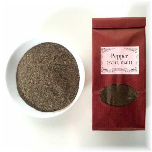 Svart pepper, malt