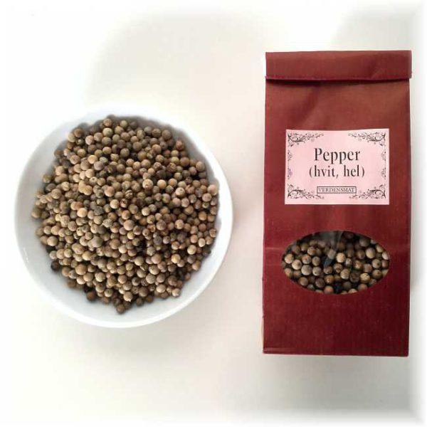 Hvit pepper, hel