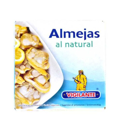 """1 boks med muslinger (vongole), eller """"almejas"""" på spansk"""