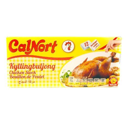 Kyllingbuljongterninger fra spanske CalNort, 12 stk