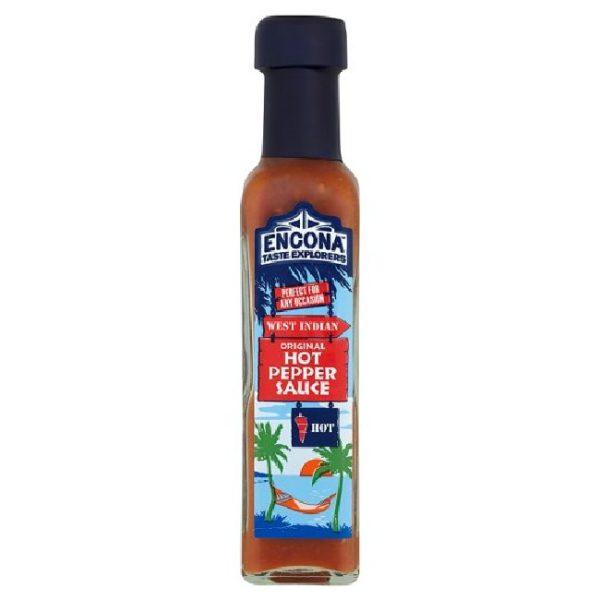 West Indian original hot pepper sauce fra Encona, 142 ml