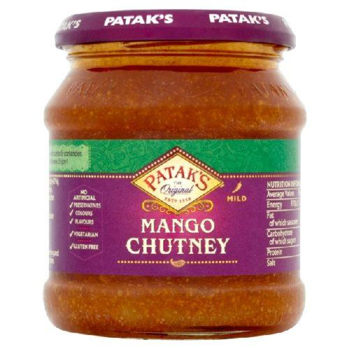 Søt mango chutney fra Patak's, 340 g