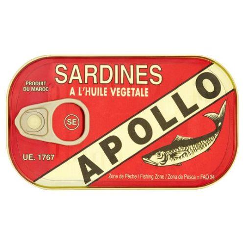 Apollo sardiner i olje, 125 g