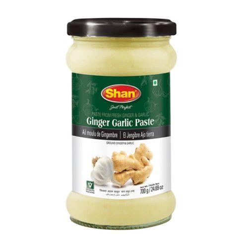 Ingefær- og kvitløkmos fra den pakistanske produsenten Shan, 310 g