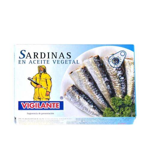 Spanske sardiner i olje (Vigilante), 120 g