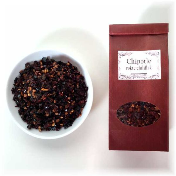 45 g chiplote, flak (tørket, røkt jalapeño)