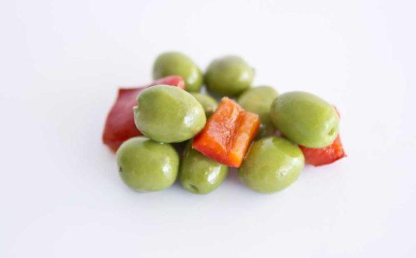 "Spanske, marinerte oliven ""chupadedos"", serveringsforslag"