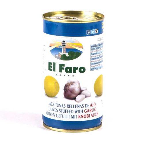 Spanske oliven fylt med hvitløk, 350 g
