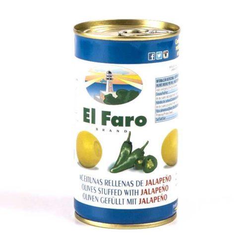 Spanske oliven fylt med jalapeños (chili), 350 g