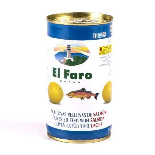 Spanske oliven fylt med norsk laks, 350 g