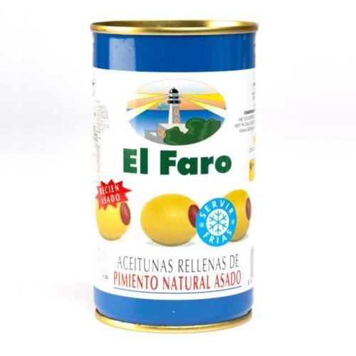 Spanske oliven fylt med nygrillet paprika, 350 g