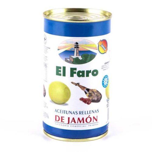 Oliven fylt med spansk spekskinke, på med 350 g