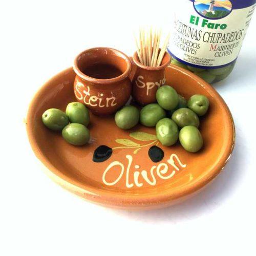 Håndlaget spansk olivenskål av terrakotta: Serveringsforslag