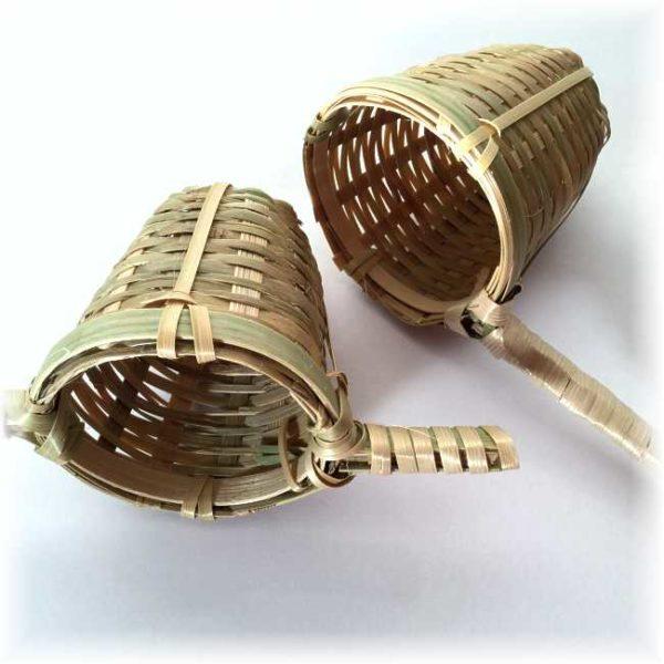 Tesiler av bambus, med 1 og 2 håndtak