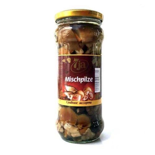Syltet soppblanding (shiitake, østerssopp og nameko), 530 g
