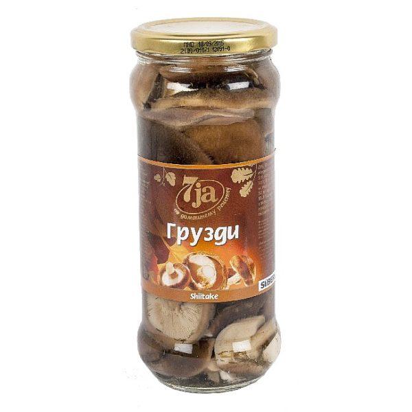 Syltet shiitake, russisk bakside, 530 g