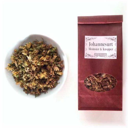 8 g tørkede blomster og knopper av johannesurt (prikk- og firkantperikum)