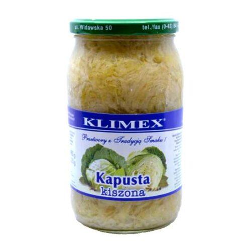 """Ekte sauerkraut (eller polsk """"kapusta kiszona"""") på glass, 860 g"""