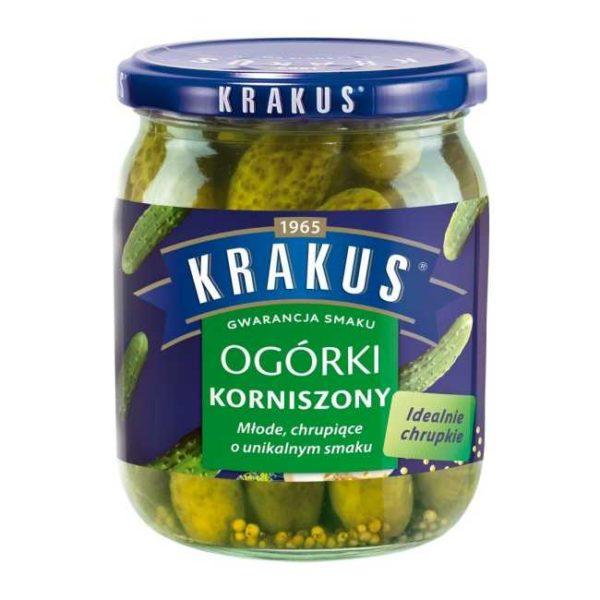 Sylteagurk (cornichons) i lake med dill fra polske Krakus, 500 g