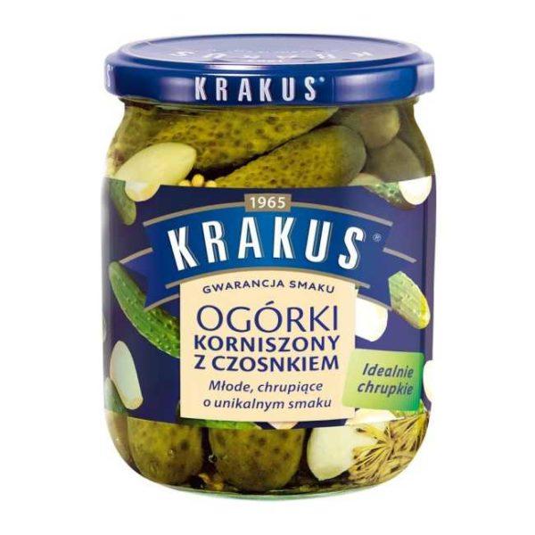 Sylteagurk (cornichons) med hvitløk fra polske Krakus, 500 g
