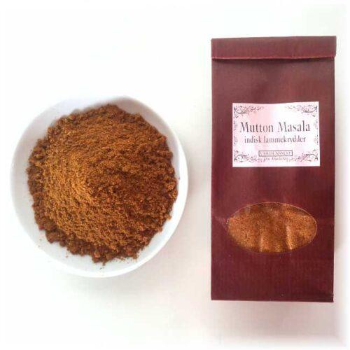 Pose med 50 g mutton masala (nordindisk lammekrydder)
