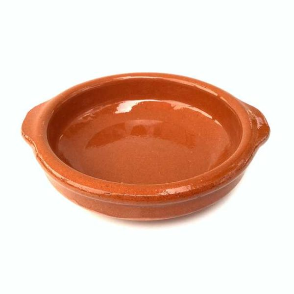 Terrakottaskål (tapasskål, cazuela), 12 cm i diameter, laget i Spania
