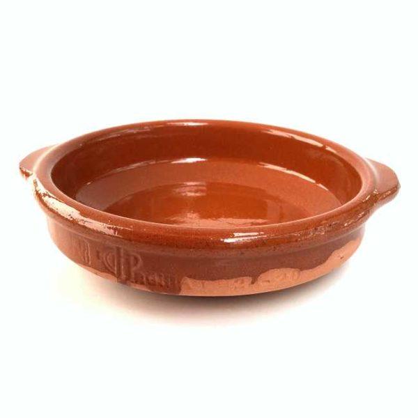 Terrakottaskål (tapasskål, cazuela), 14 cm i diameter, laget i Spania