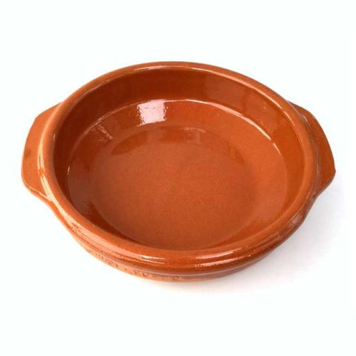 Terrakottaskål (tapasskål, cazuela), 16 cm i diameter, laget i Spania
