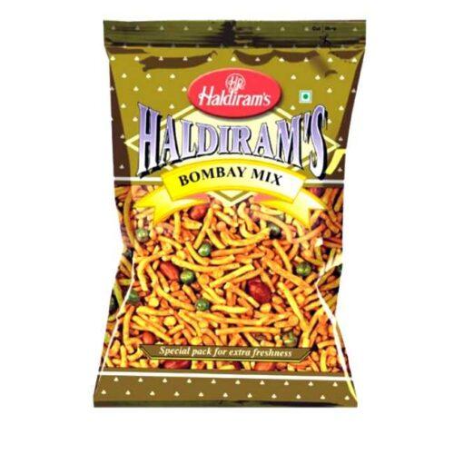 Bombay Mixture fra indiske Haldiram's, krydrede snacks, 200 g