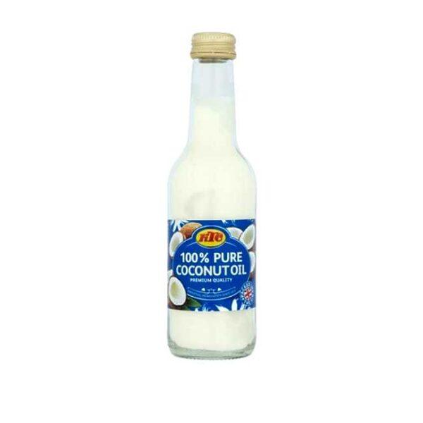 100% ren kokosolje, flaske à 250 ml