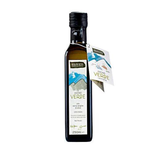 """Uliveti, italiensk extravergine olivenolje, """"Ancino Verde"""", 250 ml"""