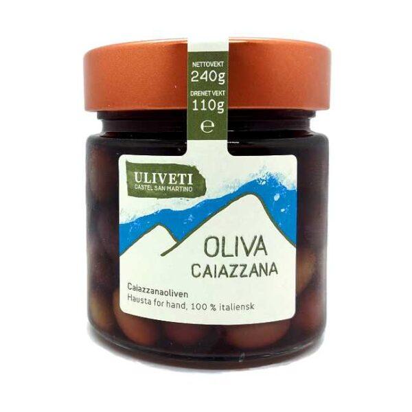 "Uliveti italienske oliven, type ""caiazzana"", 240 g"