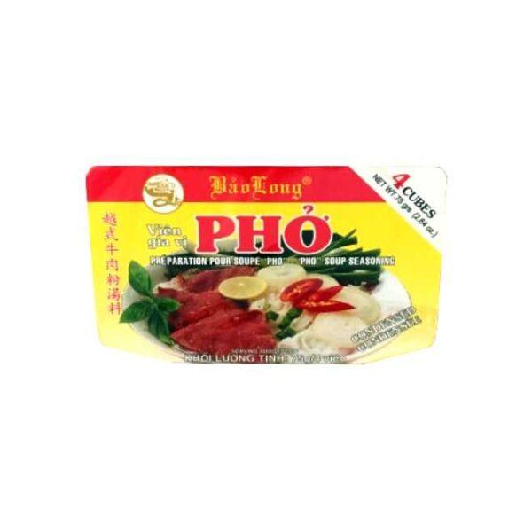 4 store buljongterninger til den vietnamesiske suppen phở (totalt 75 g)
