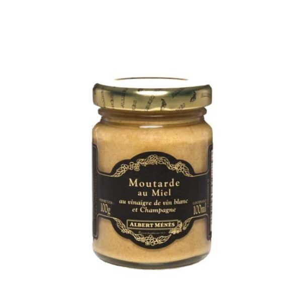 Moutarde aux miel (sennep med honning) fra franske Albert Ménés, glass á 100g
