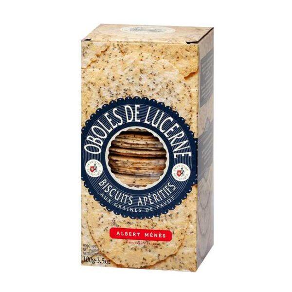 Oboles de Lucerne (sveitsiske flatbrødkjeks) fra franske Albert Ménès, 100 g