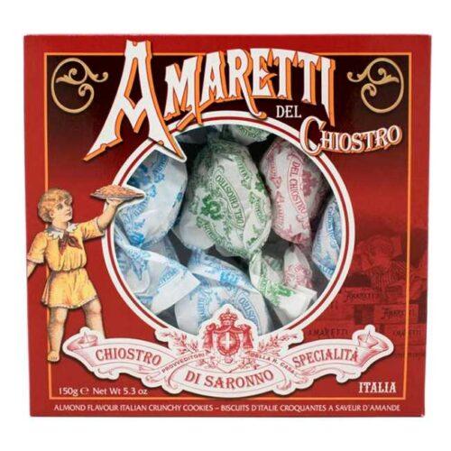 Gaveeske med individuelt pakkede amaretti (mandelkjeks) fra Italia, 150 g